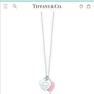 🔴Authentic TIFFANY & Co Double Heart Necklace ❤️